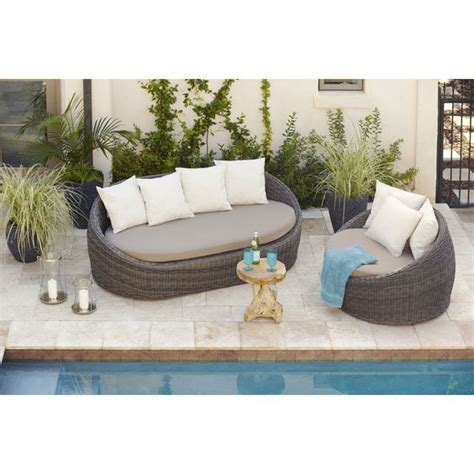 allen roth savona wicker patio patio chairs allen roth and brown cushions on