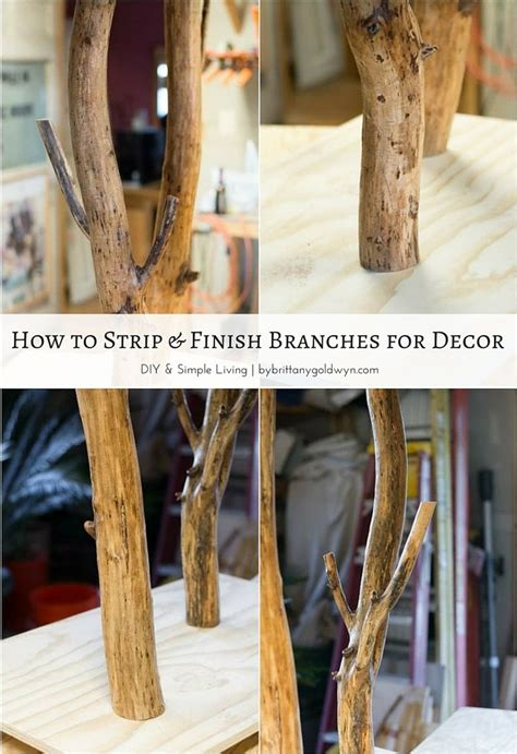 learn how to stain and seal tree branches for home