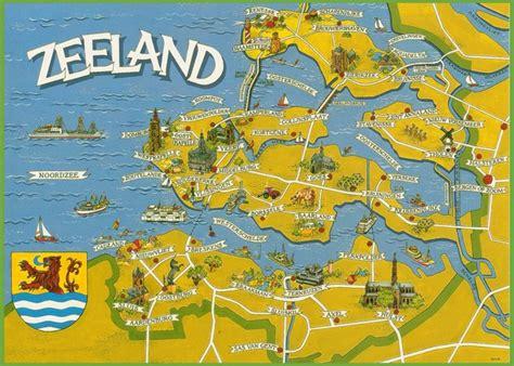 netherlands attractions map zeeland tourist map