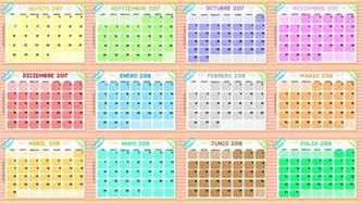 Calendario 2018 Meses Calendarios De Todos Los Meses Ciclo Escolar 2017