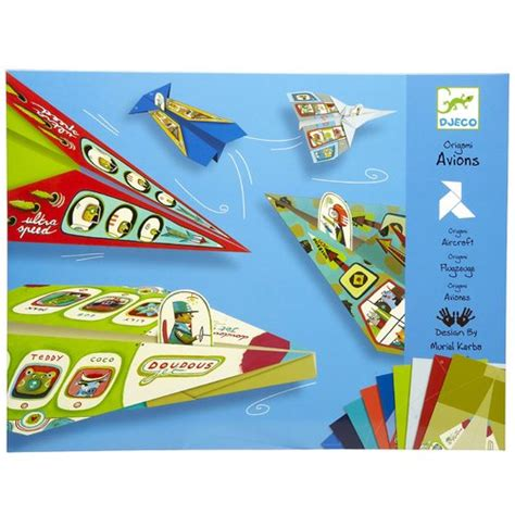 Paper Kits Australia - djeco planes origami paper craft kit for djeco toys
