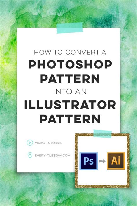 convert image to pattern in photoshop how to convert a photoshop pattern into an illustrator