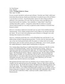 Culture Shock Essays by Culture Shock Experience Essay