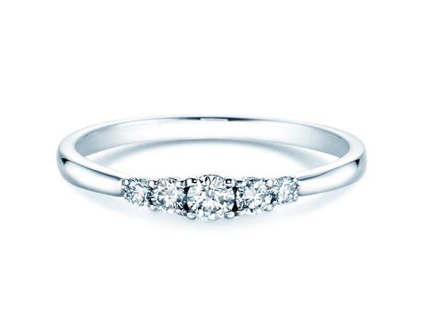 Verlobungsring Platin by Verlobungsring 5 Diamonds In Platin Mit Diamant 0 25ct