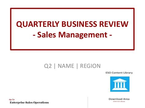 High Tech Quarterly Business Review Template Quarterly Review Template