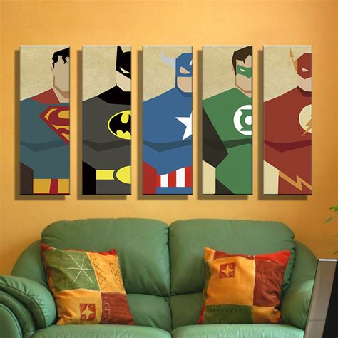 canvas painting for home decoration aliexpress com buy oil painting canvas super hero