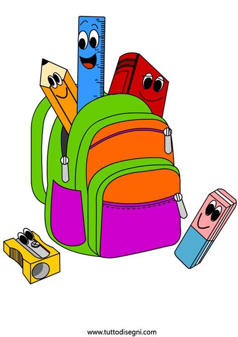 clipart scuola primaria zaino scuola tuttodisegni