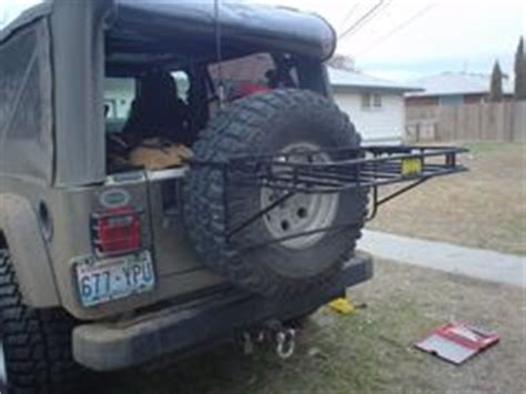 Spare Tire Cargo Rack by Cargo Rack And Spare Tires On