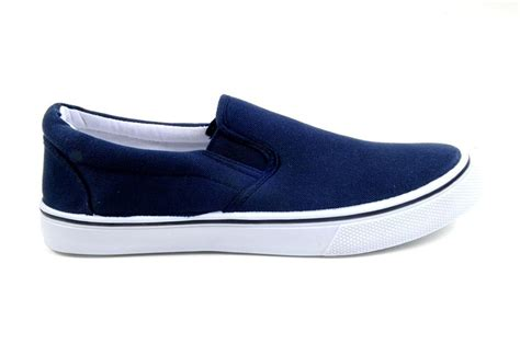 D Island Shoes Slip On Canvas zig zag slip ons casual s shoes canvas black navy or white sizes 6 5 13 new ebay