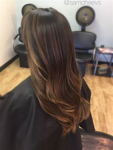 light brown highlights on black hair 711 best hair images on balayage balayage