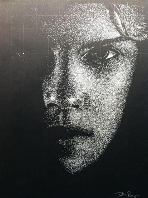 pointillism drawing    emma watson