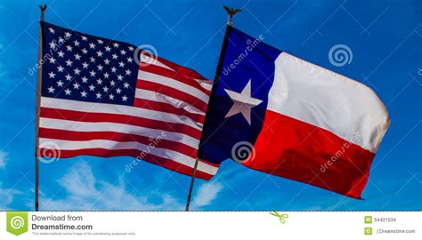 texas flags us flag store american and texas flag stock photo image 54421534