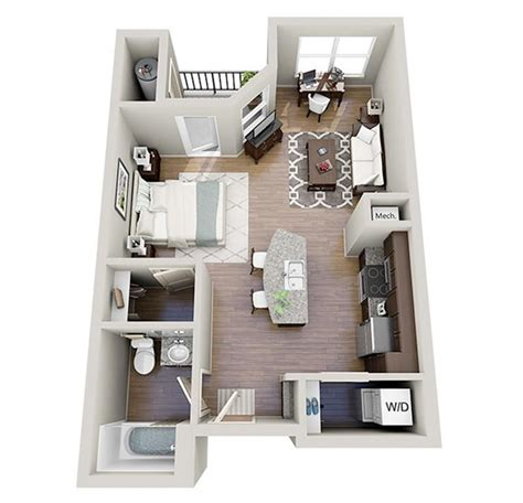 studio apartment arrangement plantas de apartamentos pequenos e quitinetes limaonagua