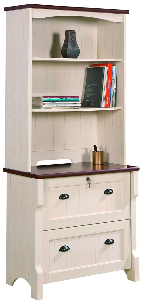 White Lateral File Cabinet 2 Drawer Wood With Filing