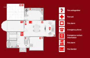 emergency exit floor plan fire and emergency plans solution conceptdraw com