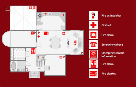 fire exit floor plan fire and emergency plans solution conceptdraw com