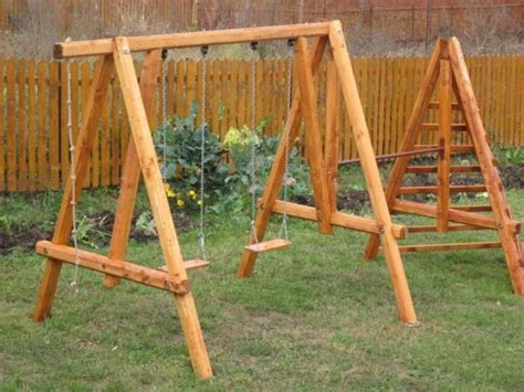 simple a frame swing plans 50 impossibly cool swing set ups for your home
