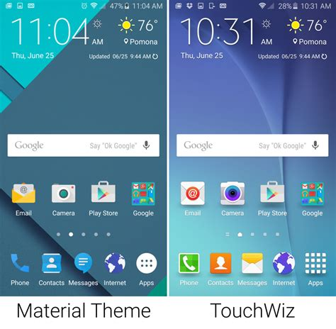 android theme store gallery the galaxy s6 theme store gets a sweet stock android theme ars technica uk