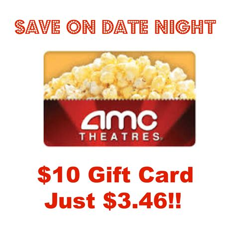 Amc Gift Cards At Cvs - hot grab a 10 amc theaters gift card for 3 46