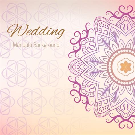 Wedding Card Designs Vector Free by Wedding Background With Mandala Design Vector Free