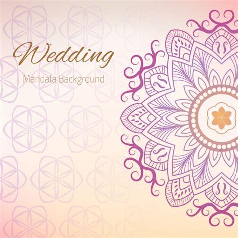 Wedding Background Design Vector by Wedding Background With Mandala Design Vector Free