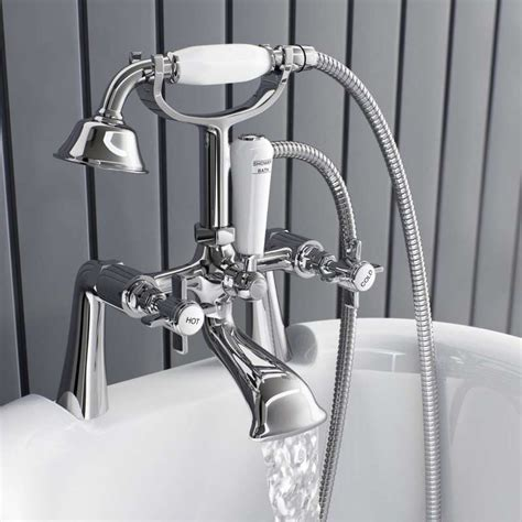 swan bath shower mixer taps swan bath taps enki oxford cross handle design bath