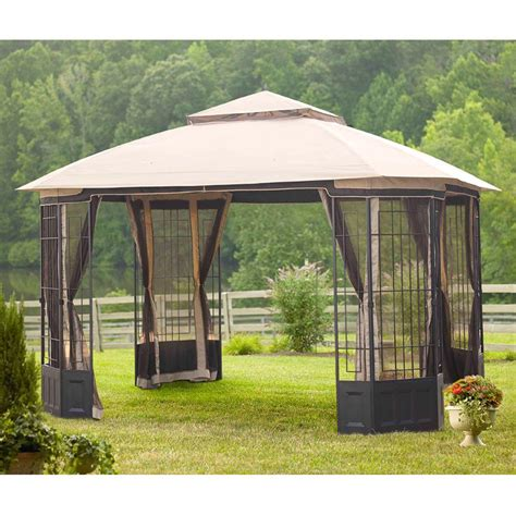 home depot gazebo hton bay 12 ft x 10 ft bethany gazebo l gz804pst