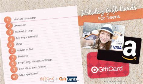 Top Gift Card Sites - top gift cards for teens gift card girlfriend