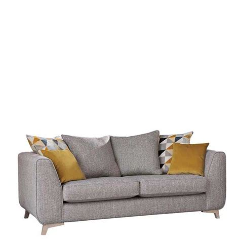 larson sofa daxon pillow back 3 seater sofa silver larson plain
