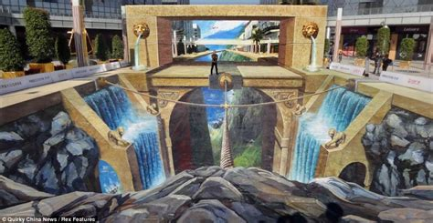 3d paintings whatever you do don t look down this amazing piece of