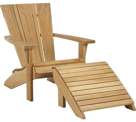 Vista Adirondack Chair With Ottoman Contemporary Adirondack Chair With Ottoman