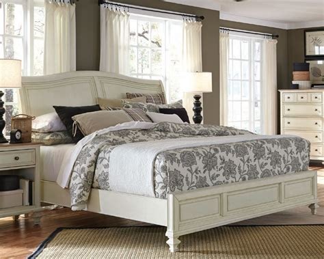 aspenhome furniture sleigh bed cottonwood asi  bed