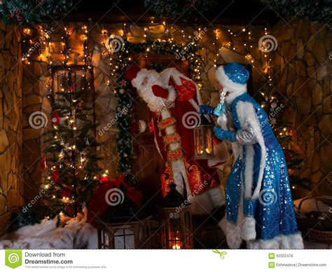 russian christmas scene stock photo image of decoration