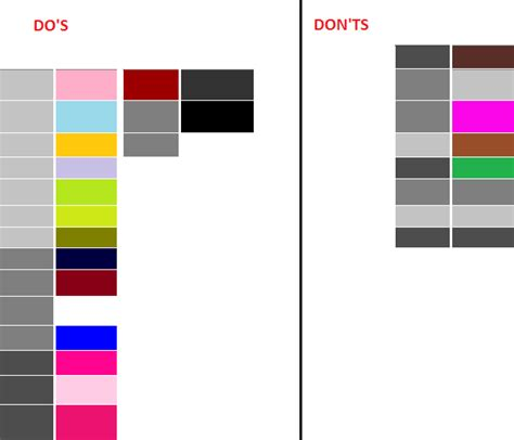 what colors compliment gray tess style section fashion color combos does and dont s
