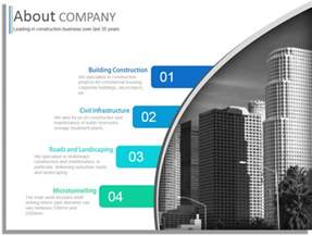 construction company profile powerpoint template design