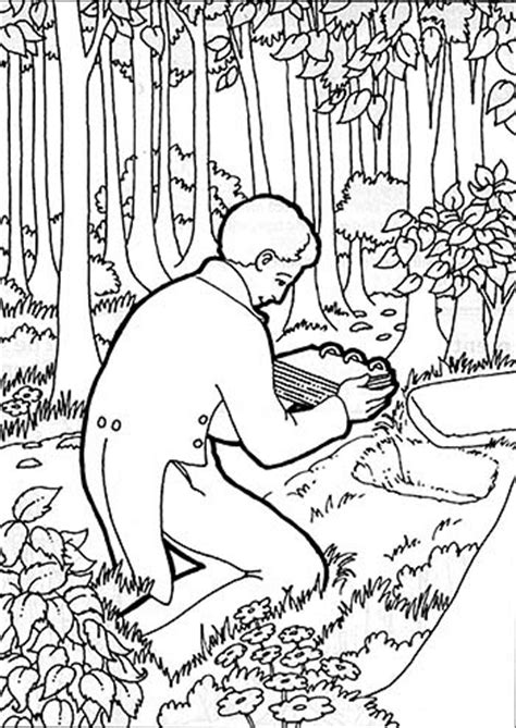 lds coloring pages joseph smith joseph smith receives the gold plates friend