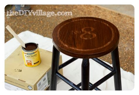 Stool Staining by Vintage Industrial Diy Bar Stools The Diy