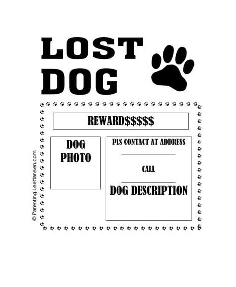lost pet template lost template the ceramic cookware