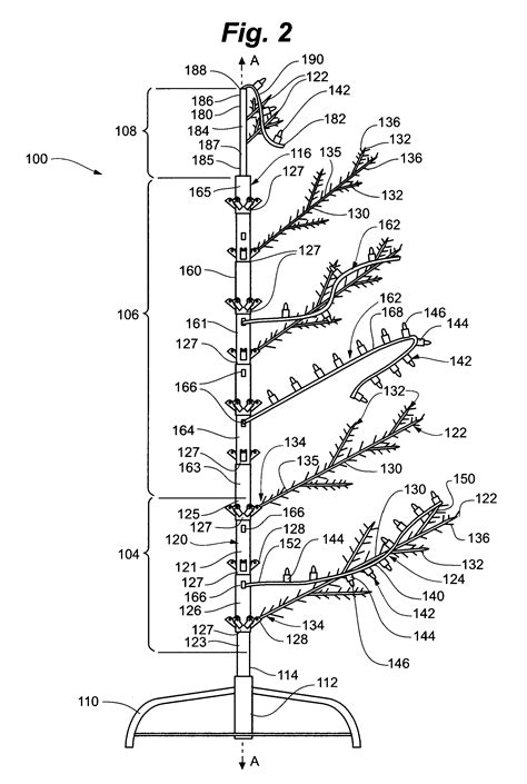 patent us8454186 modular lighted tree with trunk