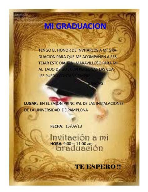 invitacion de graduacion en espanol invitacion a mi graduacion