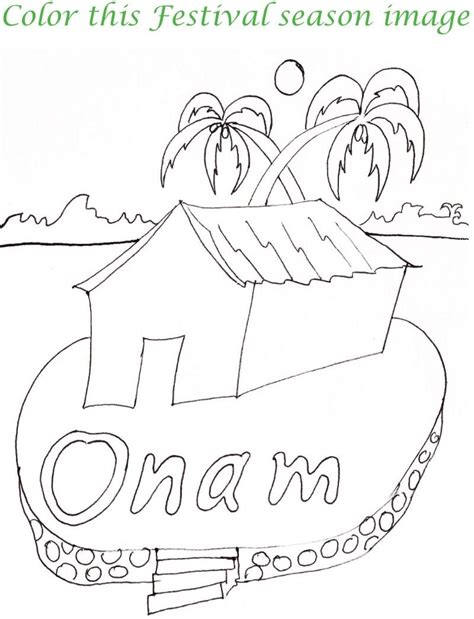 onam boat drawing onam printable coloring page for kids 6