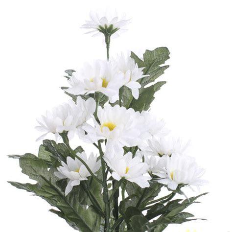 mini white artificial daisy bush wedding florals
