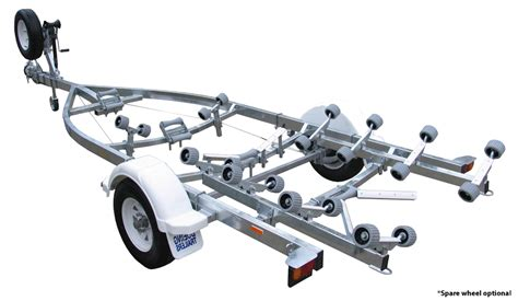 bolt on boat trailer rollers single axle 20 roller braked boat trailers boeing trailers