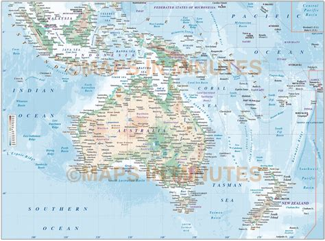 map of australasia vector map of australasia region political with land and