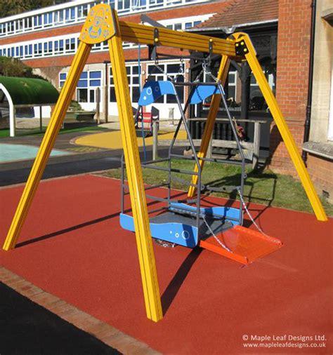 swing information wheelchair swing maple leaf designs