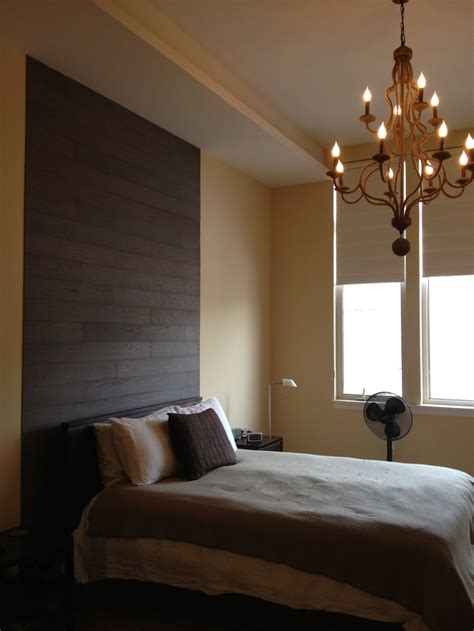 stikwood plum headboard feature wall master bedroom