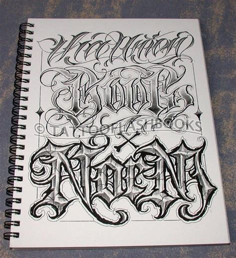 tattoo lettering font books boog norm tha union gangster chicano cholo book gun
