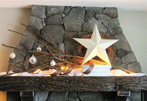 mantel decor my simple winter mantel lighted branches epsom salt and urn gorgeous decorating ideas with stars godfather style