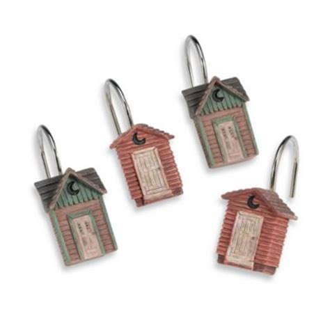 outhouse shower curtain hooks buy outhouse shower curtain from bed bath beyond