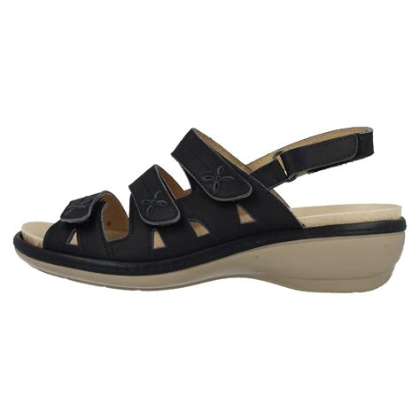large sandals easy b wide leather velcro sandals ebay